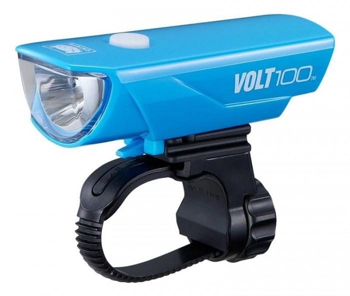 Koplamp Cateye Volt 100 / HL-EL150RC USB Led Blauw