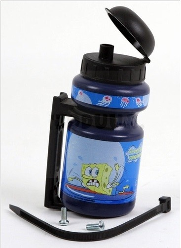 Bidon Spongebob 300ml Blauw incl. houder