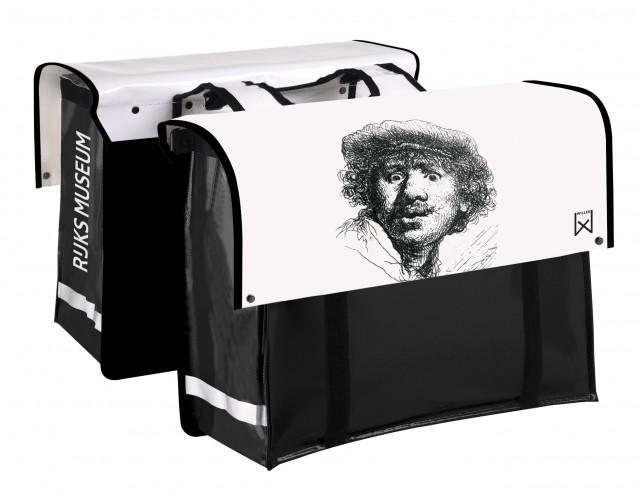 Willex dubbele Fietstas Rijksmuseum zelfportret Rembrandt van Rijn