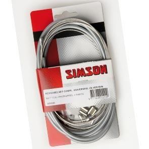 Simson remkabel universeel zilver