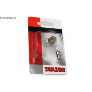 Simson lampjes voor 6 volt
